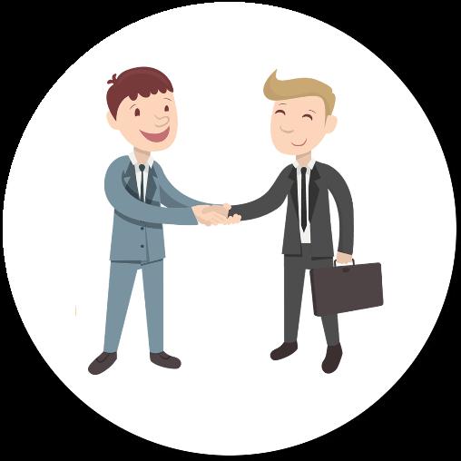 Client satisfait Handshake customer